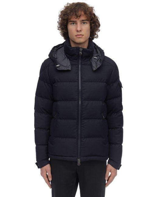 Moncler Blue Montgenevre Down Jacket for men