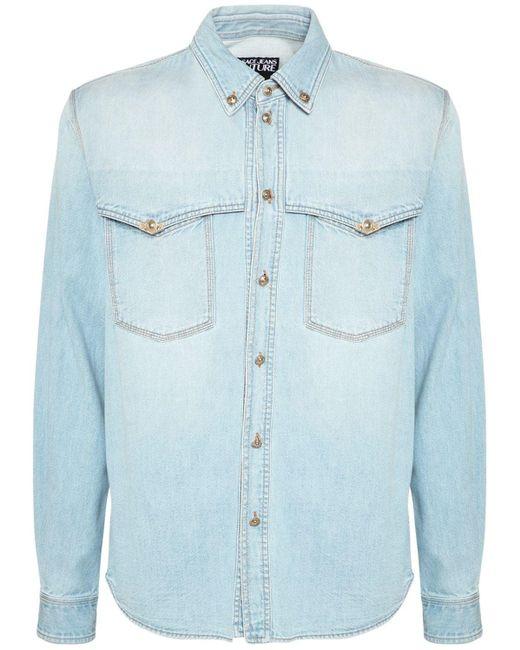 メンズ Versace Jeans デニムシャツ Blue