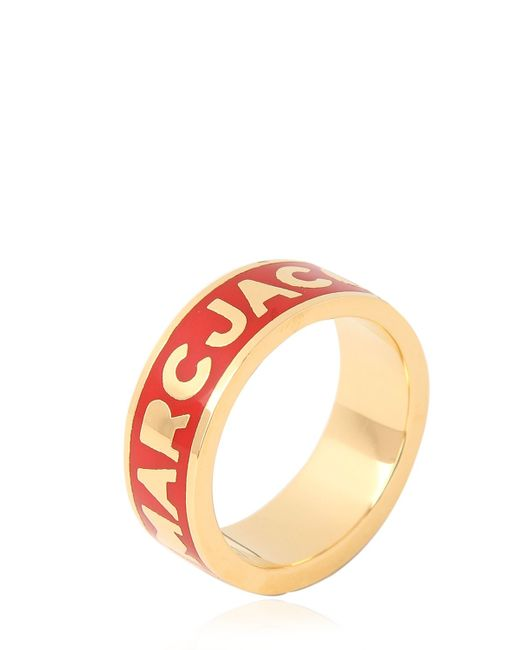 Marc By Marc Jacobs | Red Dreamy Logo Brass Ring | Lyst