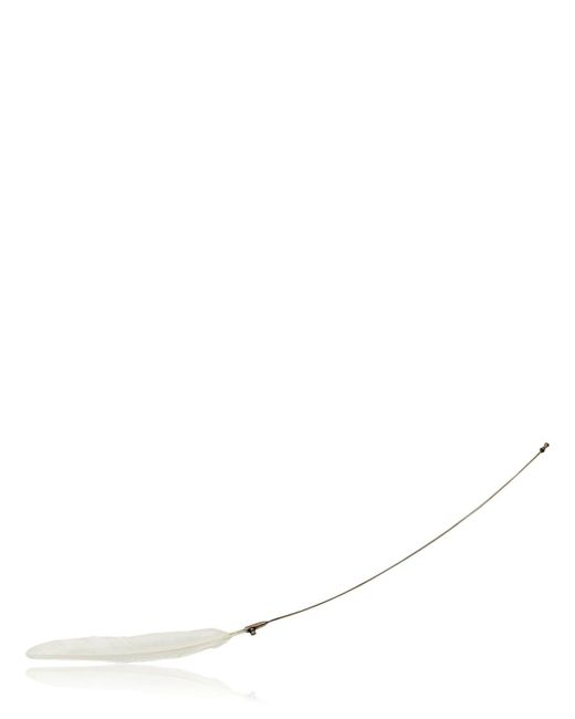 Ann Demeulemeester | White Feather Silver Pin | Lyst