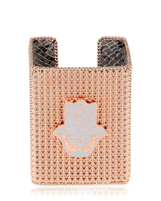 Bisou Bijoux | Pink Big Square Cuff Bracelet | Lyst