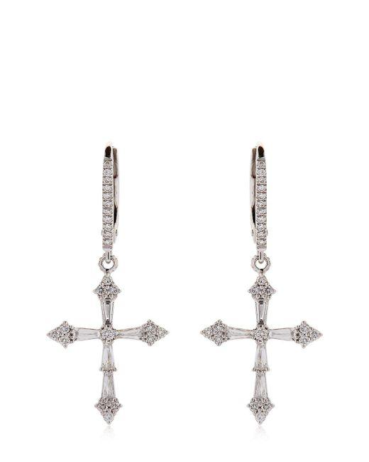 Stone Paris | Metallic Heaven Diamond Cross Earrings | Lyst