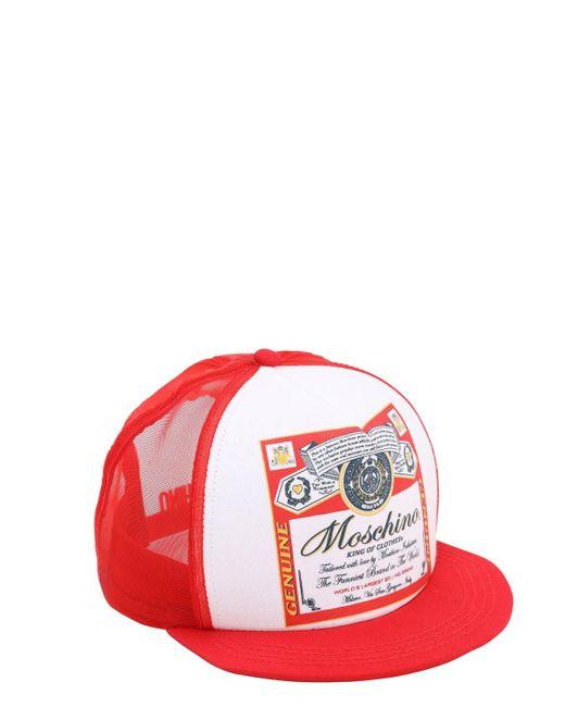 Кепка С Принтом King Of Clothes Moschino, цвет: Red