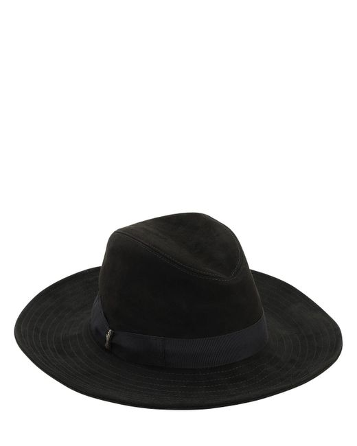 Borsalino スエード帽 Black