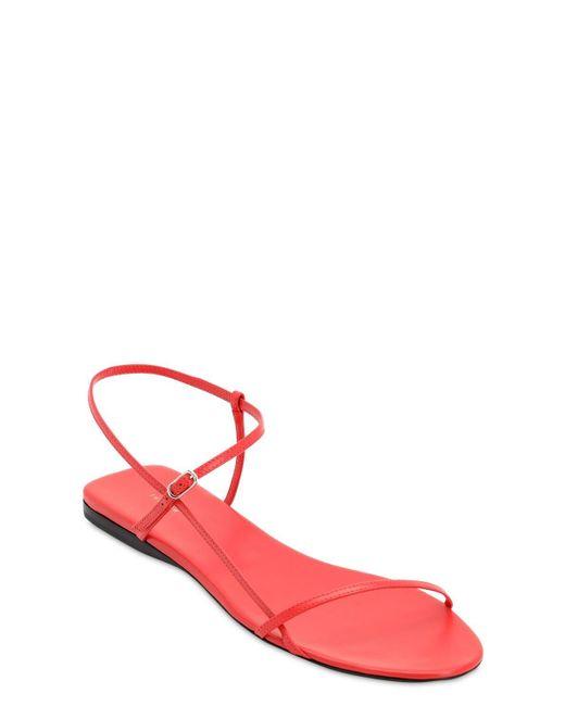 The Row Bare レザーフラットサンダル 10mm Red