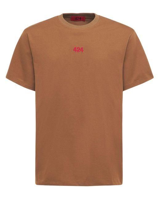メンズ 424 コットンtシャツ Natural