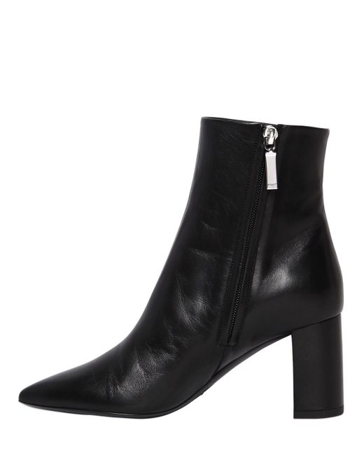 Saint Laurent 70MM BETTY LEATHER ANKLE BOOTS 0KDN1GQCuA