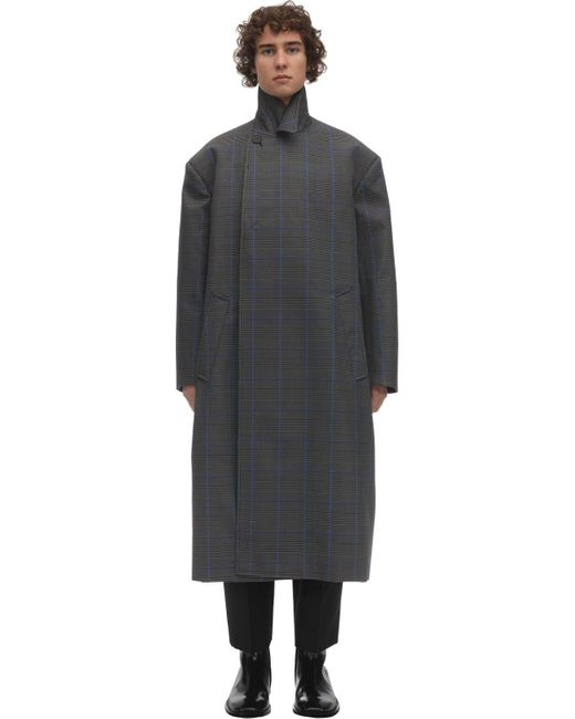 メンズ Balenciaga オーバーサイズコットンブレンドコート Gray