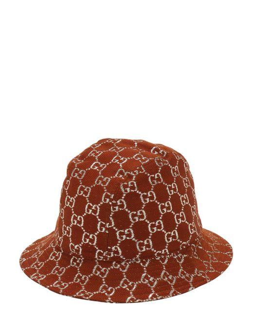 Панама С Узором GG Supreme Gucci, цвет: Brown
