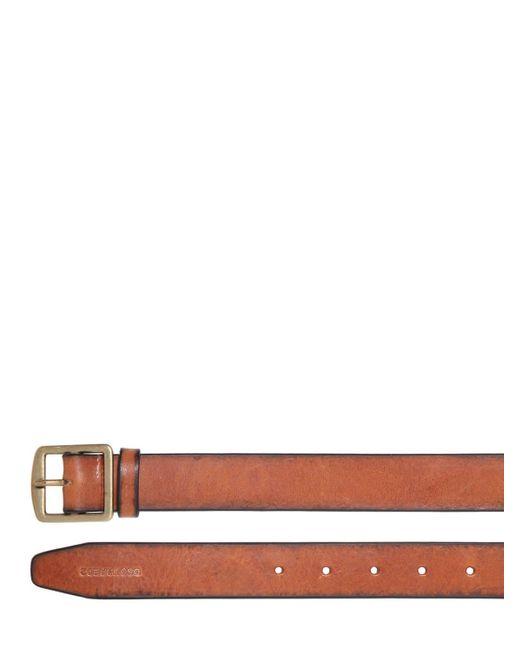 """Cintura """"dean"""" In Pelle Con Fibbia 30mm di DSquared² in Brown da Uomo"""