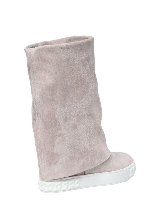 Casadei 80MM SUEDE WEDGE SNEAKERS IhzHs