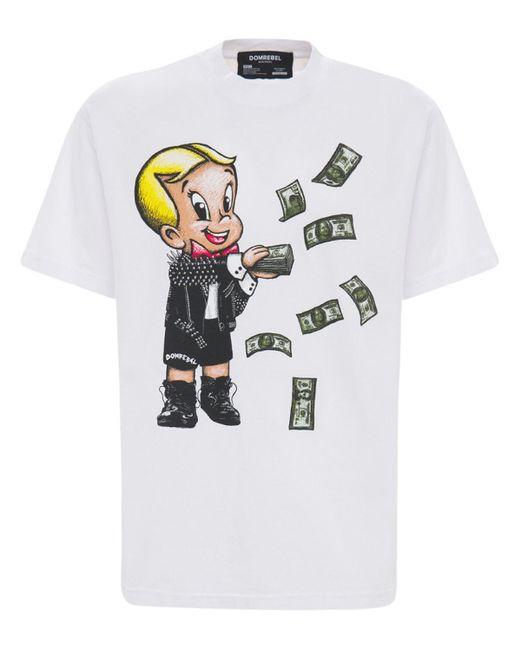 DOMREBEL T-shirt Aus Baumwolljersey Mit Druck in White für Herren