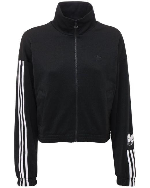 Adidas Originals ロゴトラックトップ Black