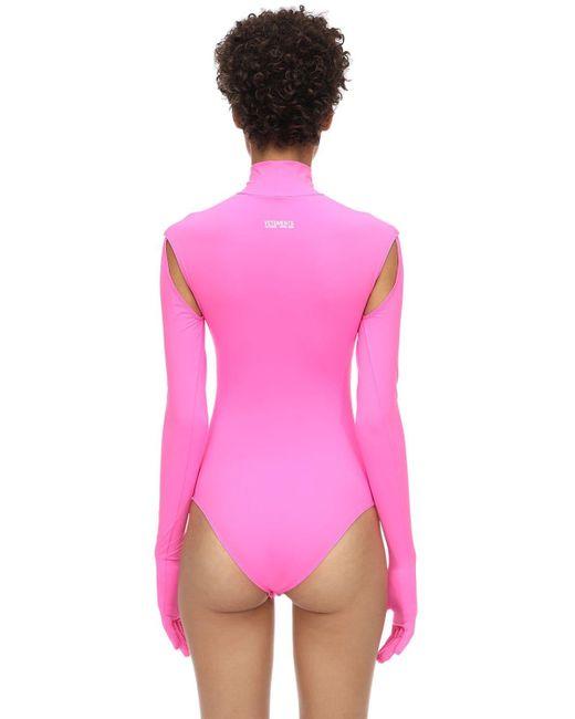 Vetements ライクラボディスーツ Pink