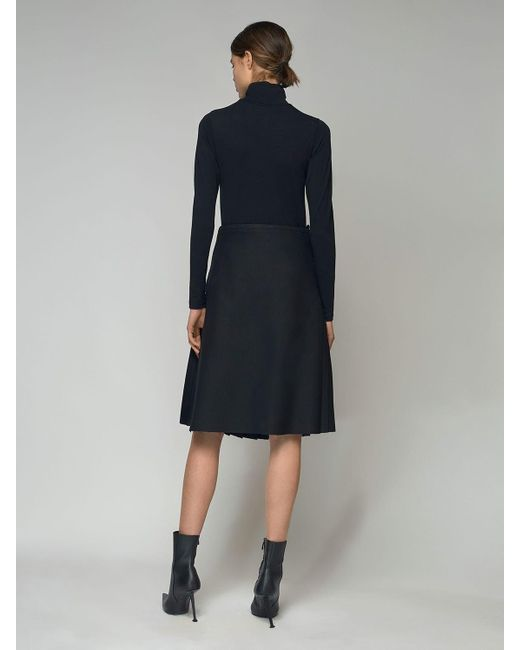 Balenciaga コットンジャージーハイネックトップ Black