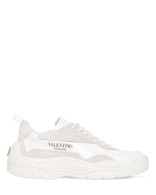 メンズ Valentino Garavani Garavani コレクション ホワイト ロゴ スニーカー White