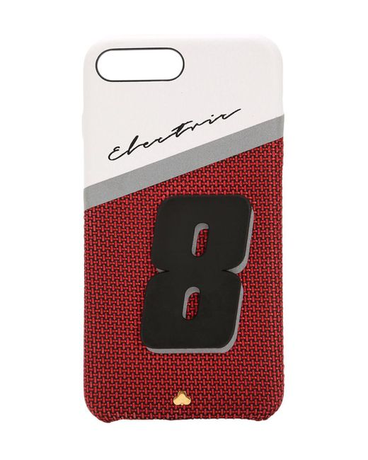 Chaos Electric 8 レザー Iphone 7/8 Plus ケース Red