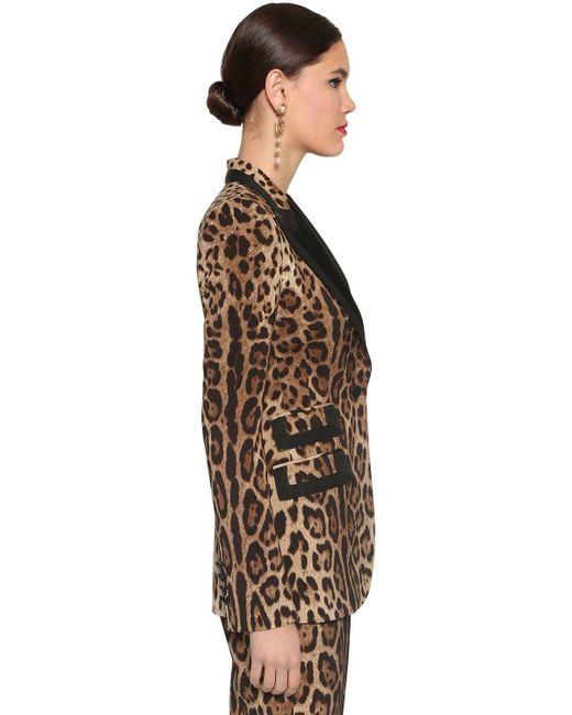 Dolce & Gabbana ストレッチウールキャンバスブレザー Black