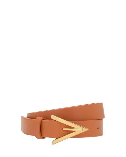 Кожаный Ремень Bottega Veneta, цвет: Brown