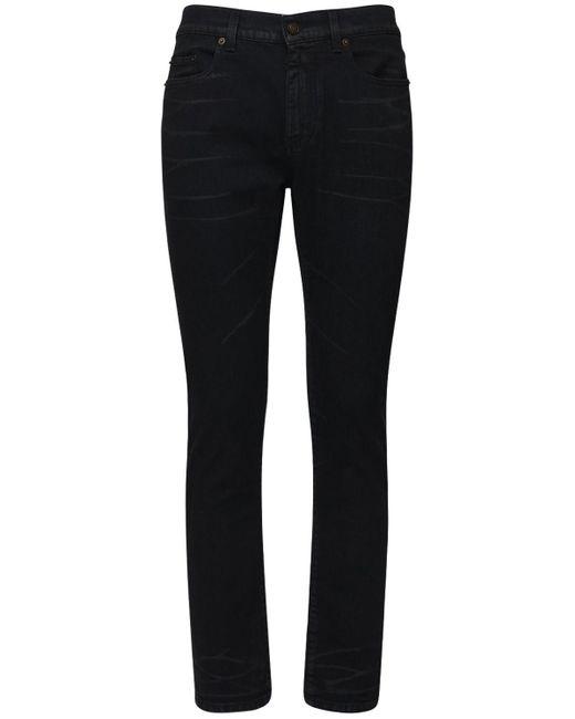 メンズ Saint Laurent スキニーワックスストレッチデニムジーンズ 15.5cm Black