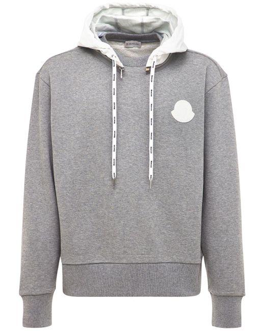Свитшот Из Хлопка С Логотипом Moncler для него, цвет: Gray