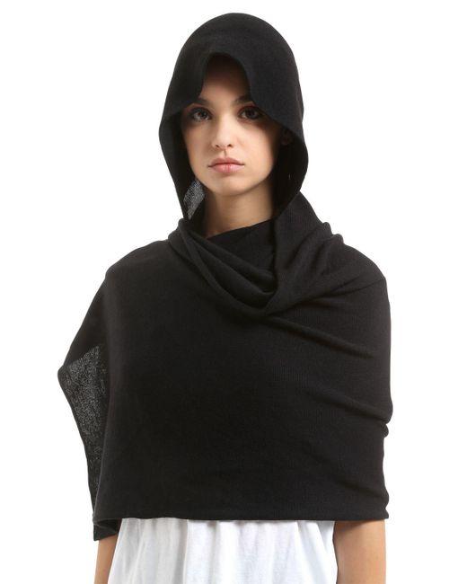 Scha - Black Hood Scarf Wool Hat - Lyst