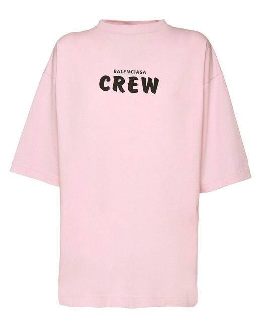 Balenciaga オーバーサイズコットンジャージーtシャツ Pink