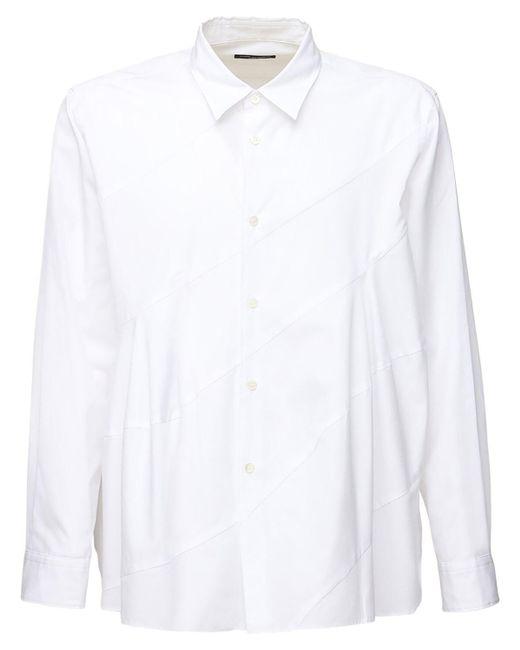 メンズ Comme des Garçons コットンポプリンシャツ White