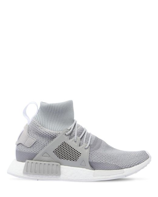 Adidas Originals Rubber Nmd R2 Primeknit Sneakers In Light Grey Gray For Men Save 14 Lyst