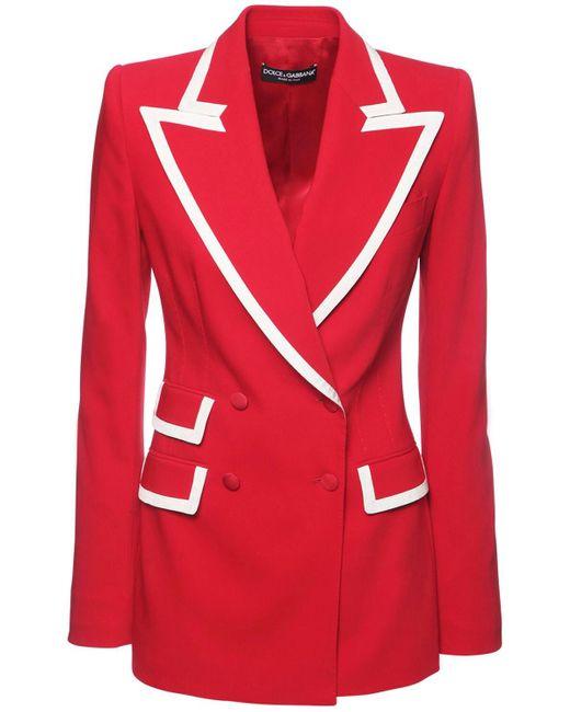 Dolce & Gabbana ストレッチウールブレンドジャケット Red