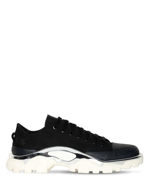 best loved a15fa f9fdb Adidas By Raf Simons - Black Rs Detroit Runner Sneakers for Men - Lyst ...