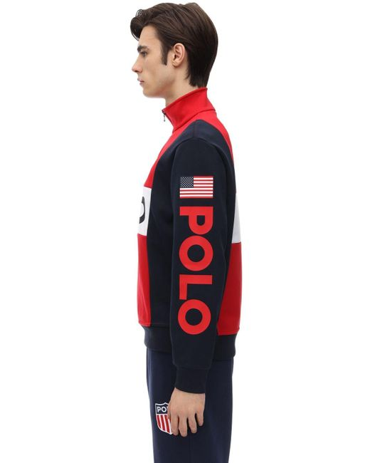 メンズ Polo Ralph Lauren コットンブレンドスウェットシャツ Red