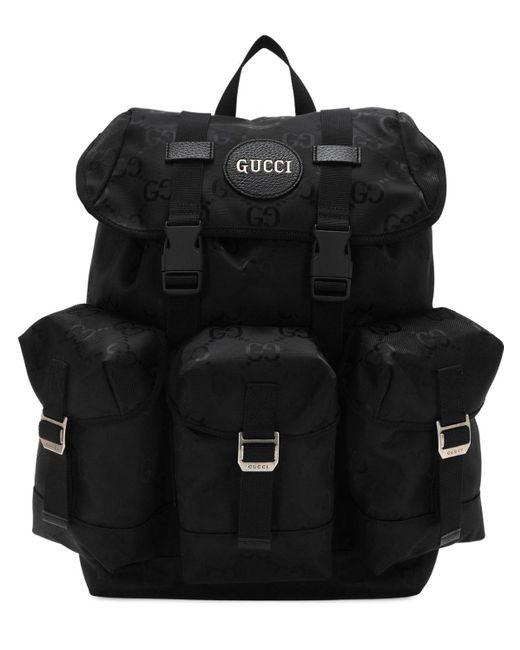 メンズ Gucci ブラック Off The Grid GG エコ バックパック Black