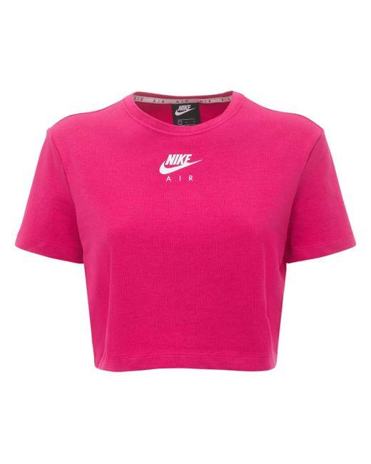 Nike コットンブレンドクロップトップ Pink