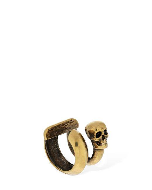 Alexander McQueen Skull シングルイヤーカフ Multicolor