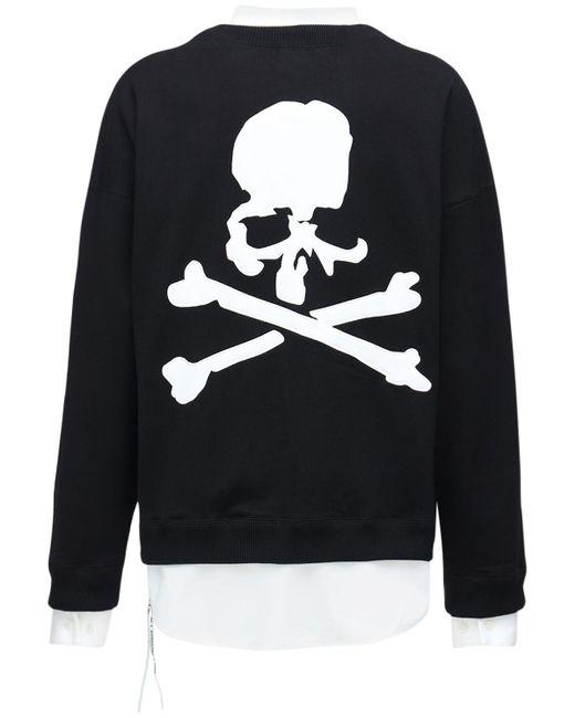 メンズ MASTERMIND WORLD Boxy コットンスウェットシャツ Black