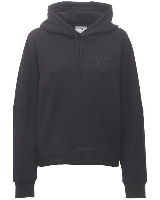 Y-3 Black Classic Chest Logo Cotton Hoodie