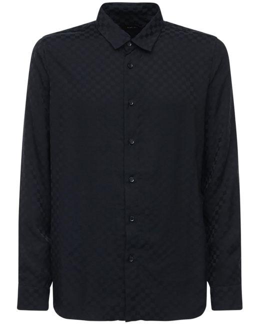 Жаккардовая Рубашка Из Вискозы Amiri для него, цвет: Black