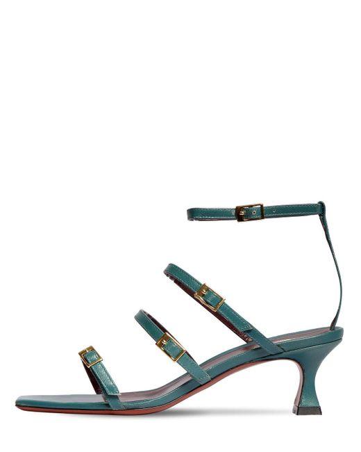 MANU Atelier Blue 50mm Leather Sandals