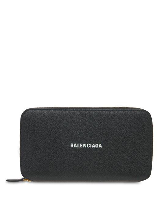 Кожаный Кошелек Zip-around Balenciaga, цвет: Black