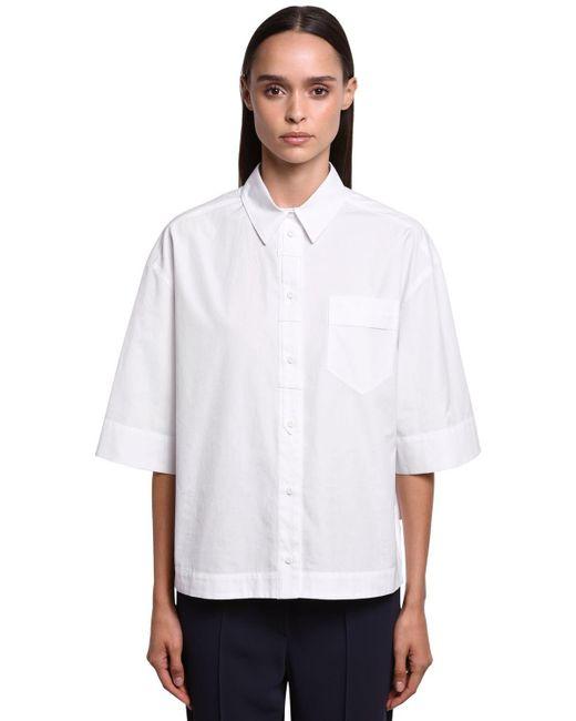 Sportmax コットンポプリンシャツ White