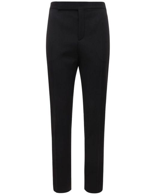 メンズ Saint Laurent ウールパンツ 16.5cm Black