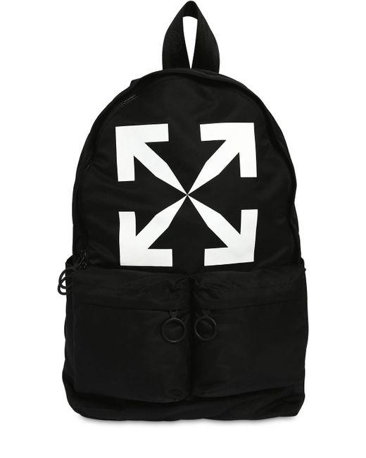 """Рюкзак Из Канвас """"backpack"""" Off-White c/o Virgil Abloh для него, цвет: Black"""