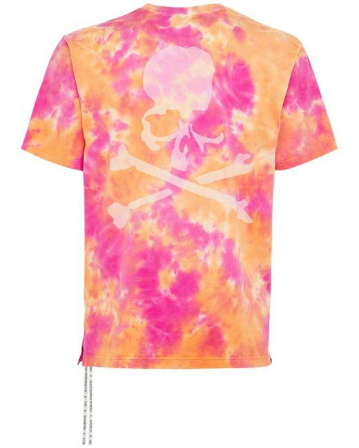 メンズ MASTERMIND WORLD タイダイコットンtシャツ Orange