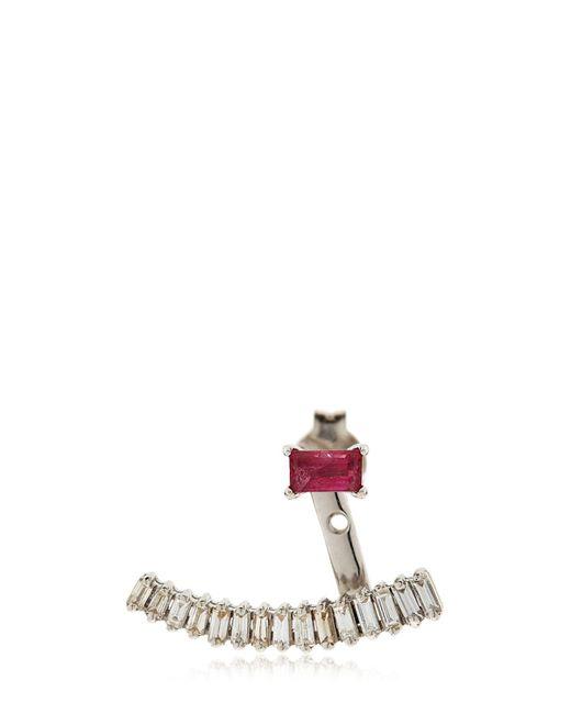 Sarah Noor | Metallic Baby Baguette Earrings | Lyst