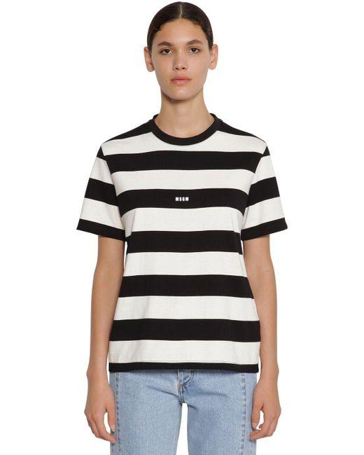 MSGM コットンジャージーtシャツ Black