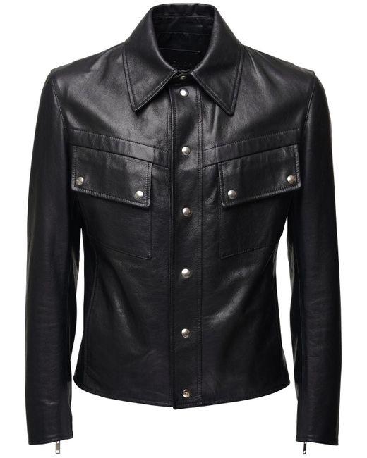 メンズ Givenchy レザージャケット Black