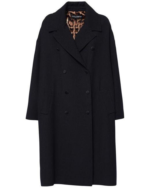Dolce & Gabbana ダブルクレープコート Black
