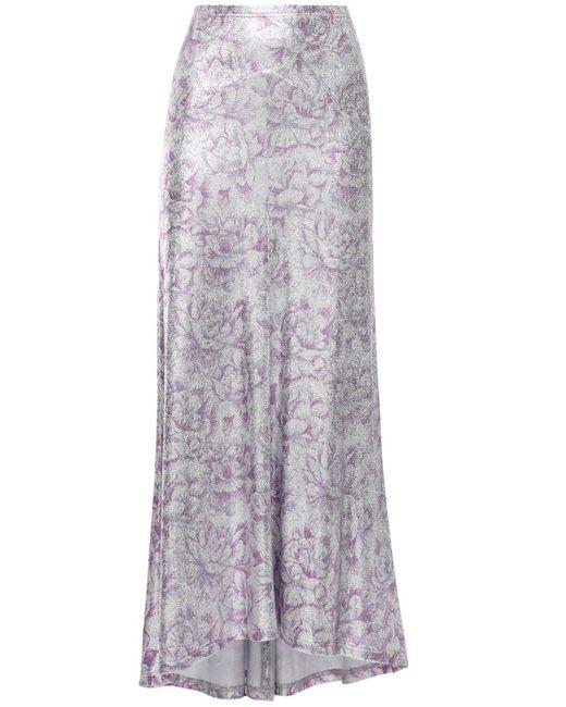 Paco Rabanne ビスコースブレンドスカート Purple