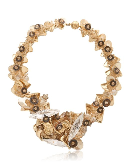 Heaven Tanudiredja   Metallic Embroidered Chain Sculpture Necklace   Lyst
